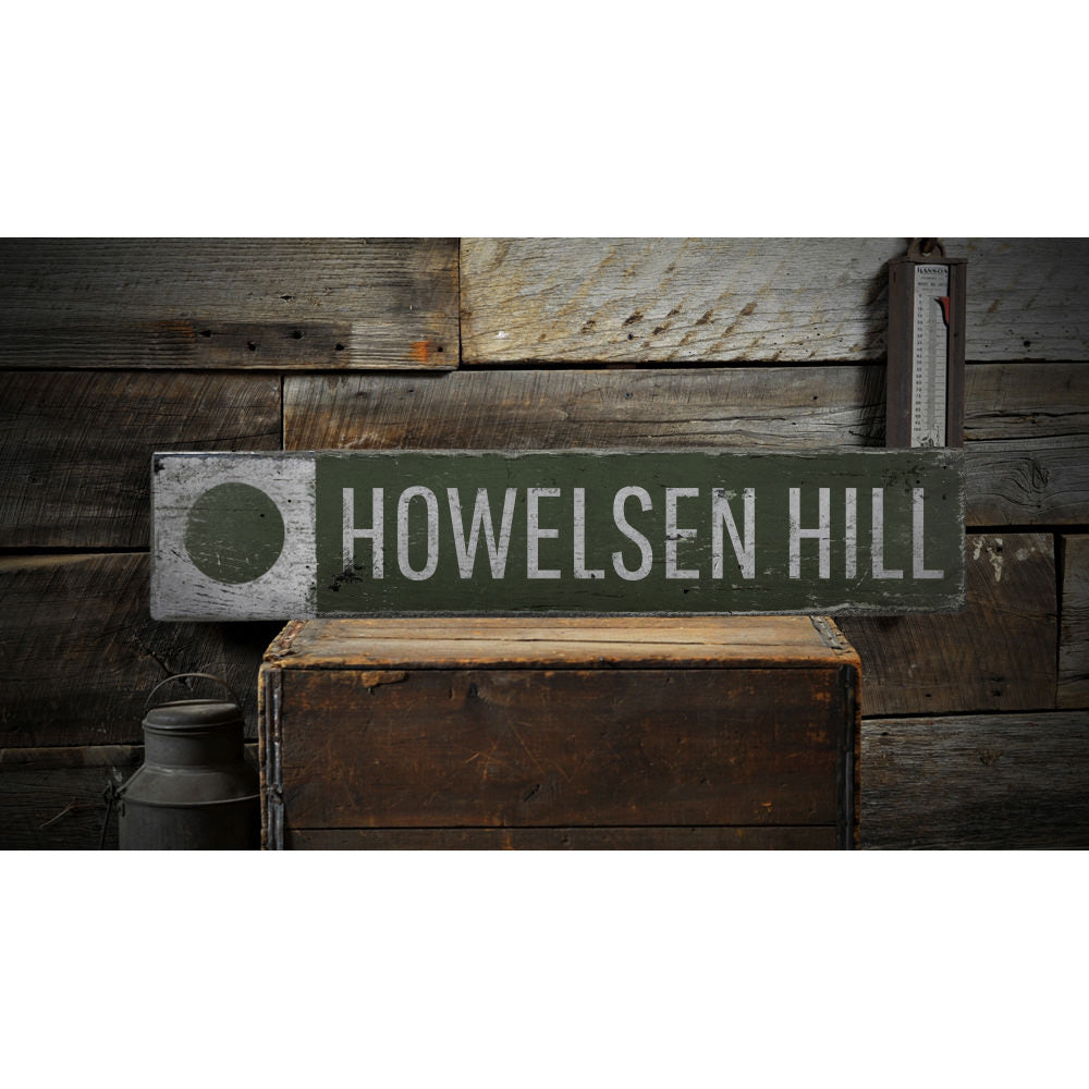 Circle Ski Hill Vintage Wood Sign