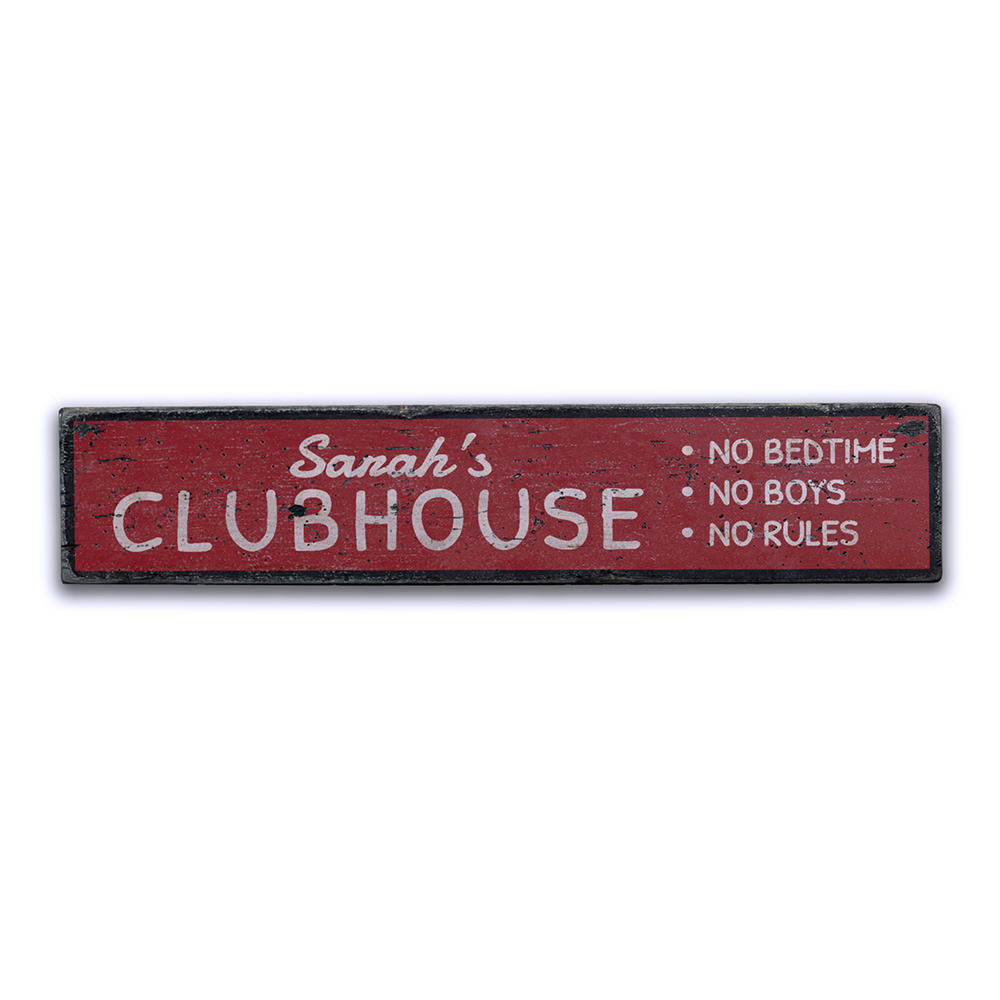 Kids Clubhouse Vintage Wood Sign