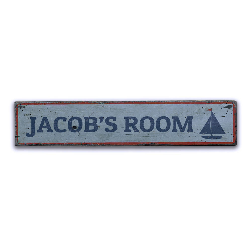 Nautical Kid Room Vintage Wood Sign