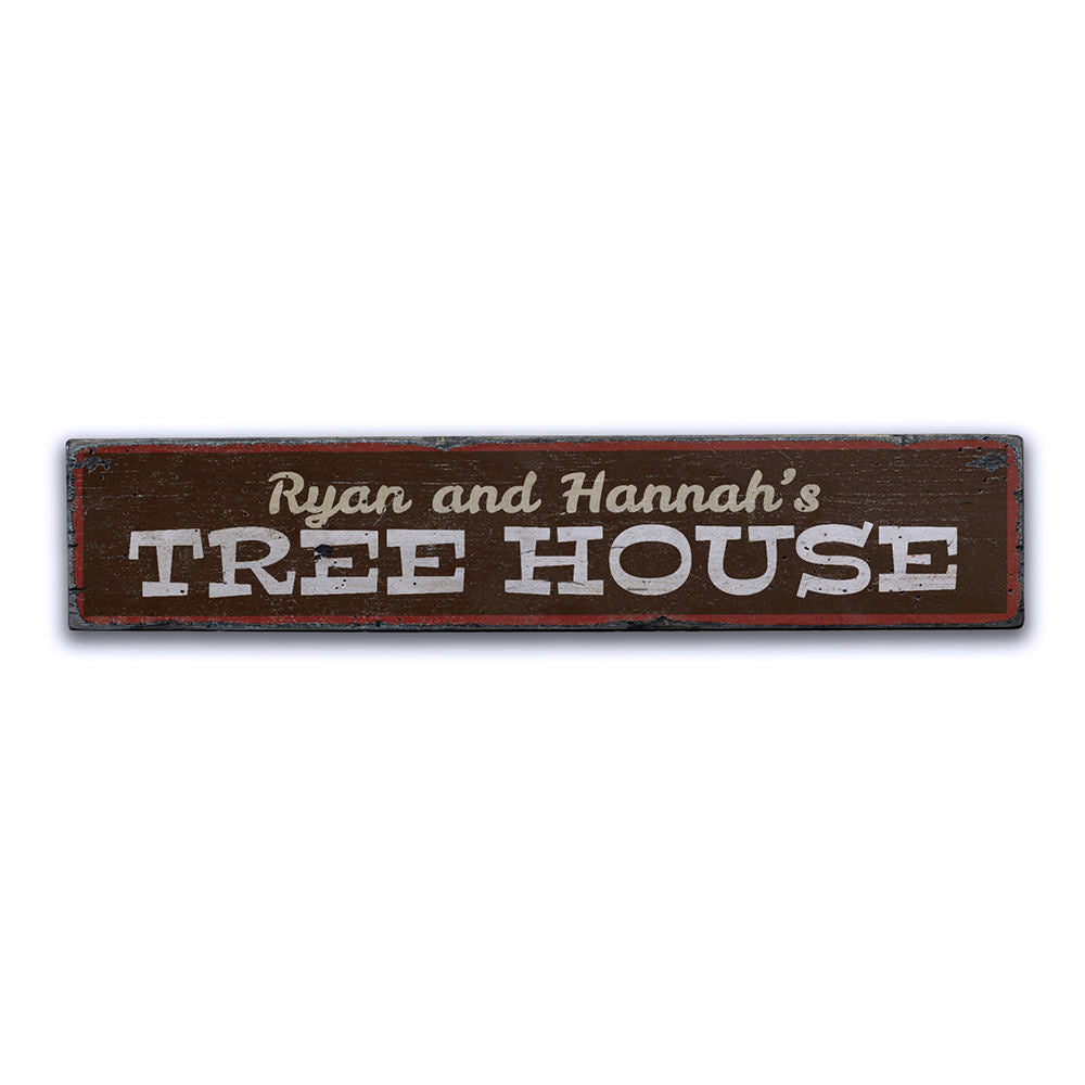 Tree House Vintage Wood Sign