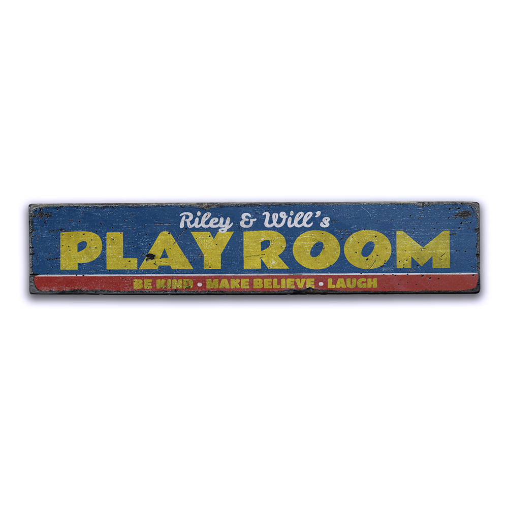 Children's Playroom Vintage Wood Sign