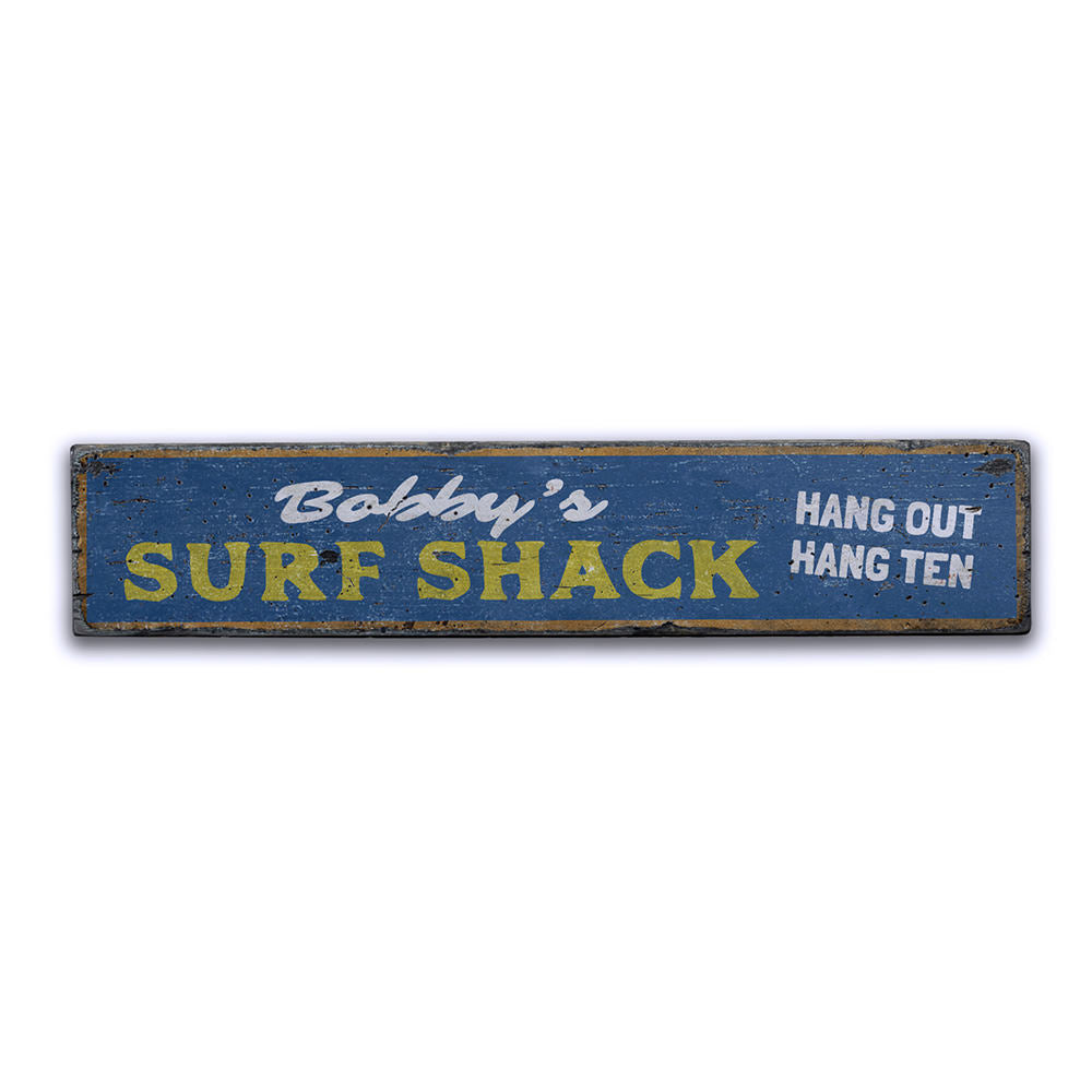 Hang Out Hang Ten Vintage Wood Sign