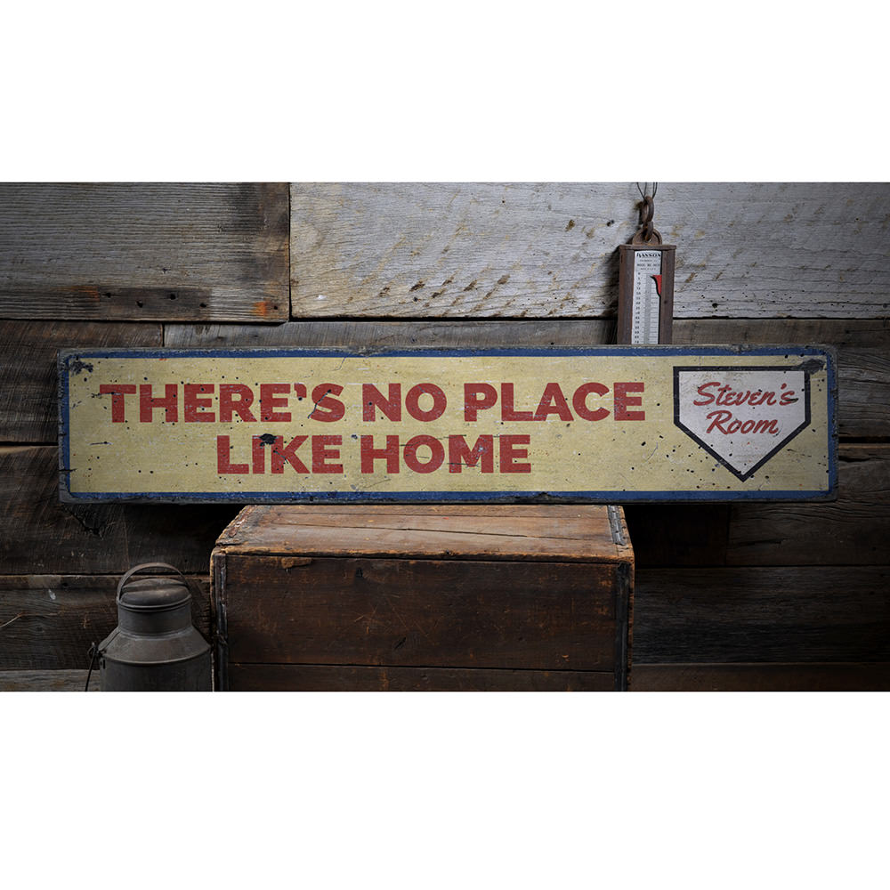 Theres No Place Like Home Vintage Wood Sign