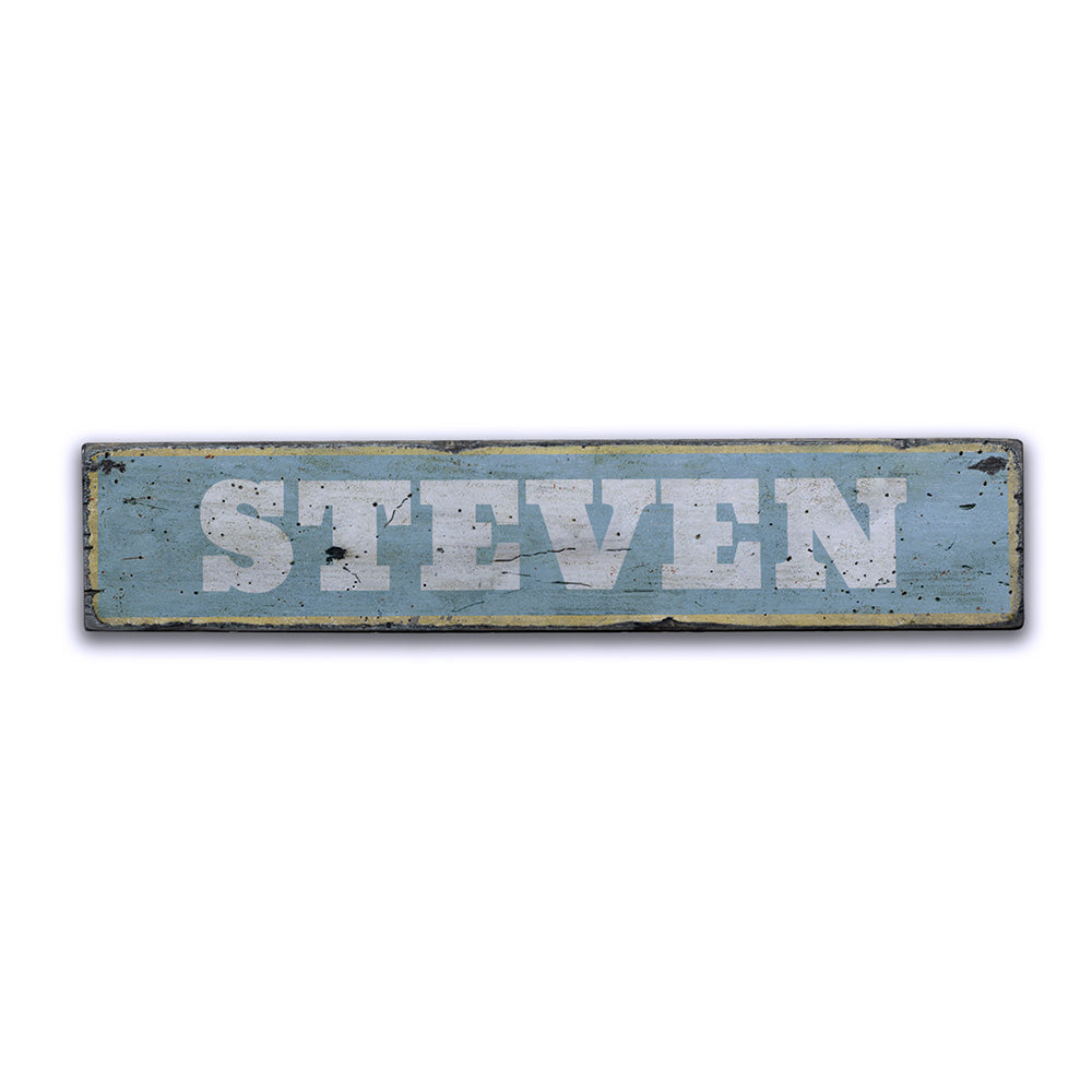 Baby Name Rustic Wood Sign