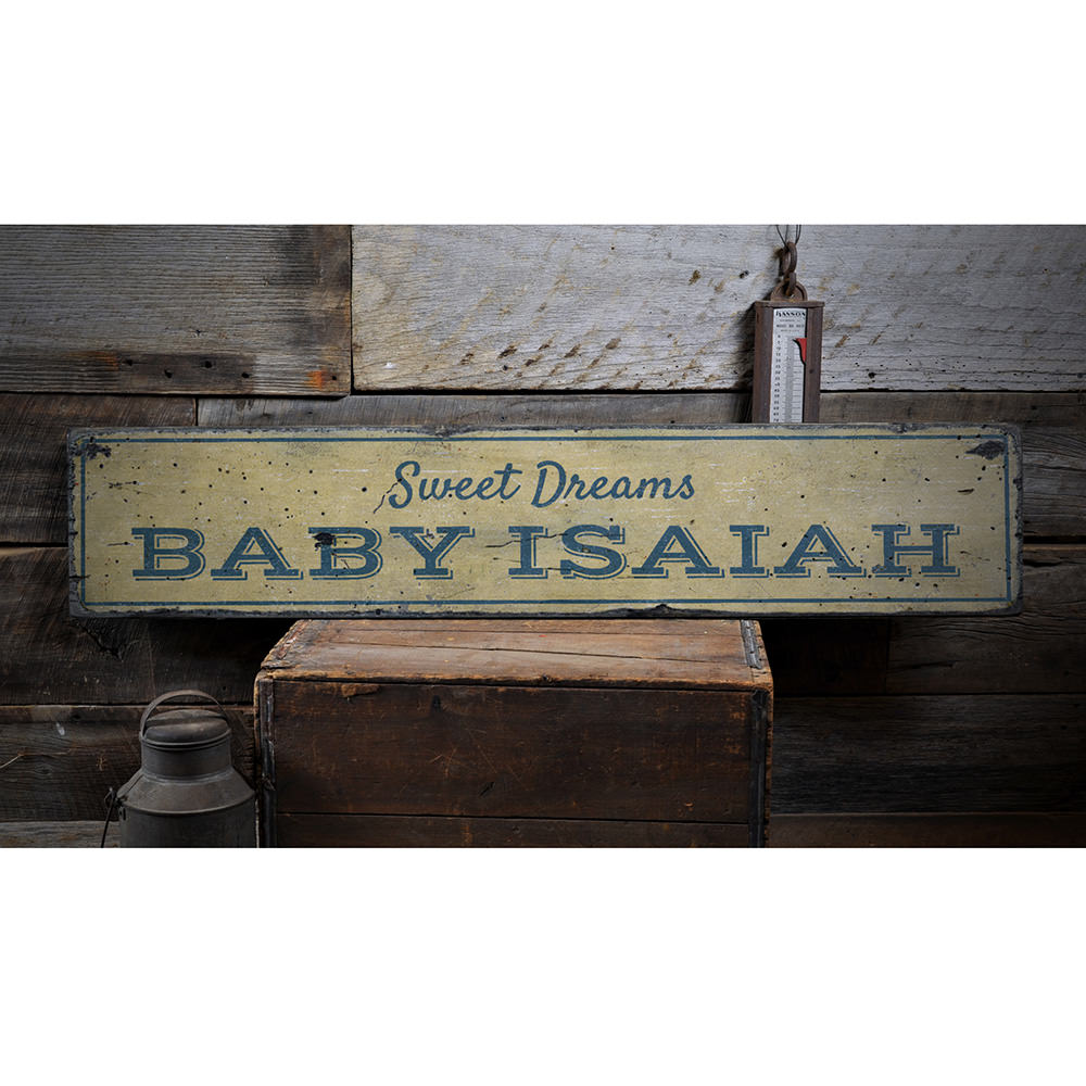Sweet Dreams Baby Vintage Wood Sign