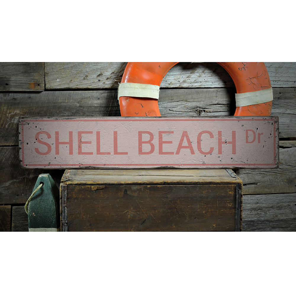 Shell Beach Drive Vintage Wood Sign