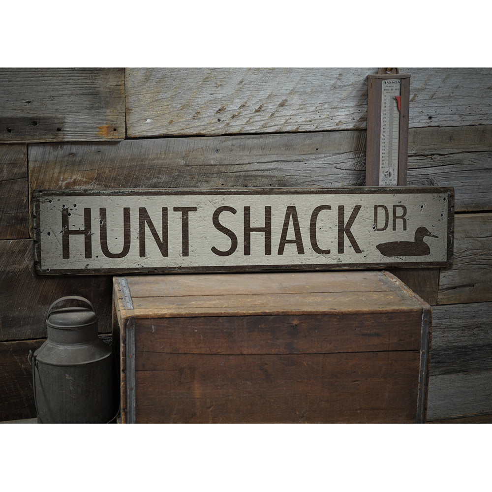 Hunt Shack Drive Vintage Wood Sign