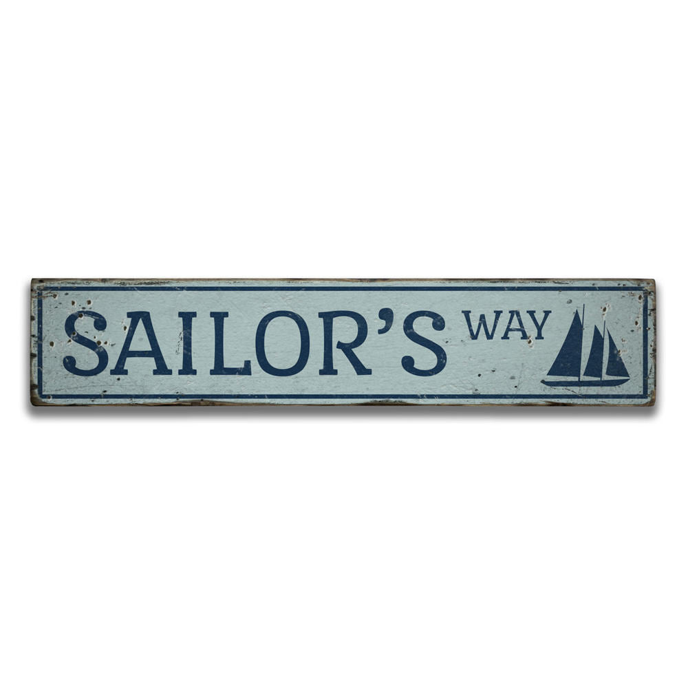 Sailors Way Vintage Wood Sign