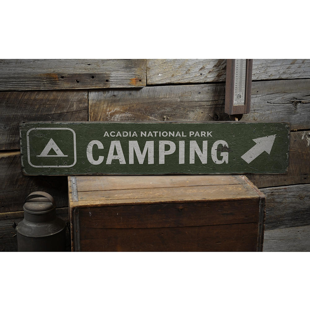 Camping Vintage Wood Sign