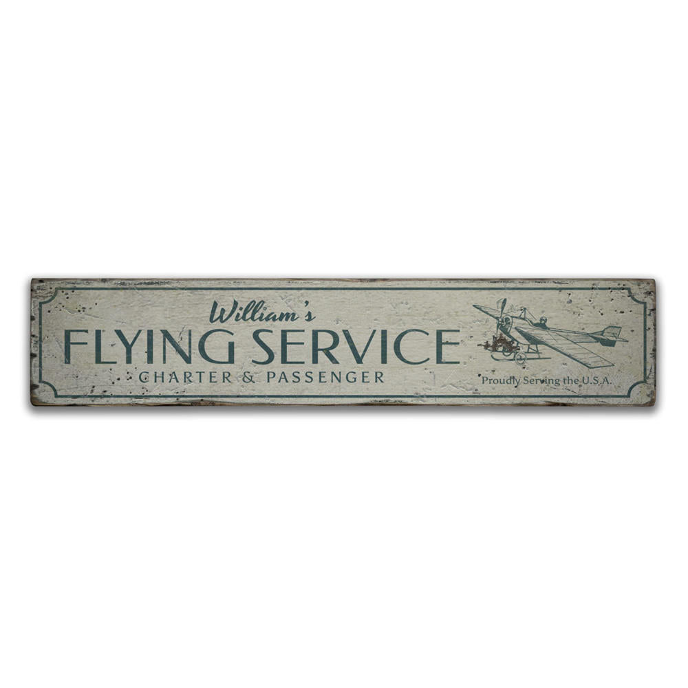 Flying Service Vintage Wood Sign