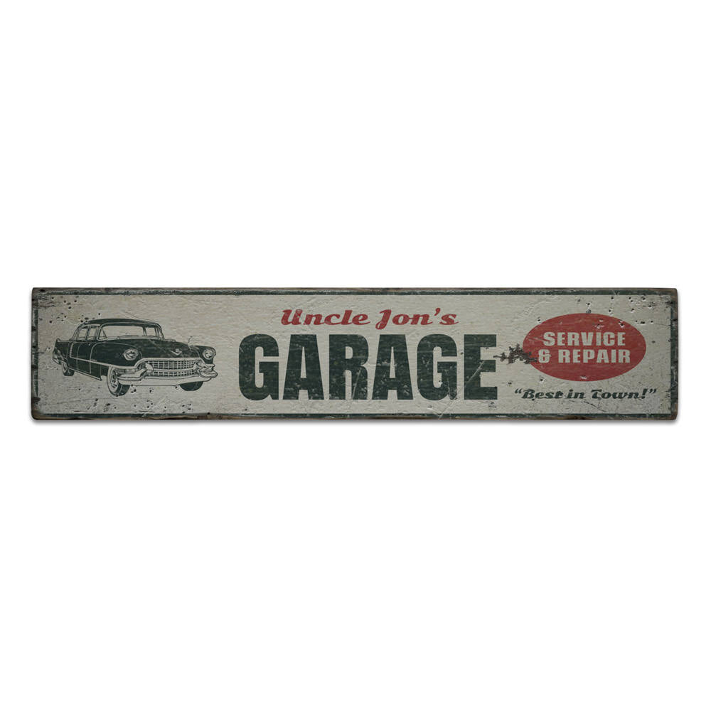 Service & Repair Garage Vintage Wood Sign