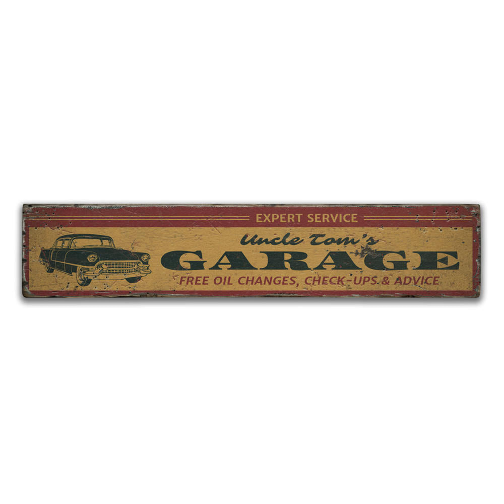 Expert Service Garage Vintage Wood Sign