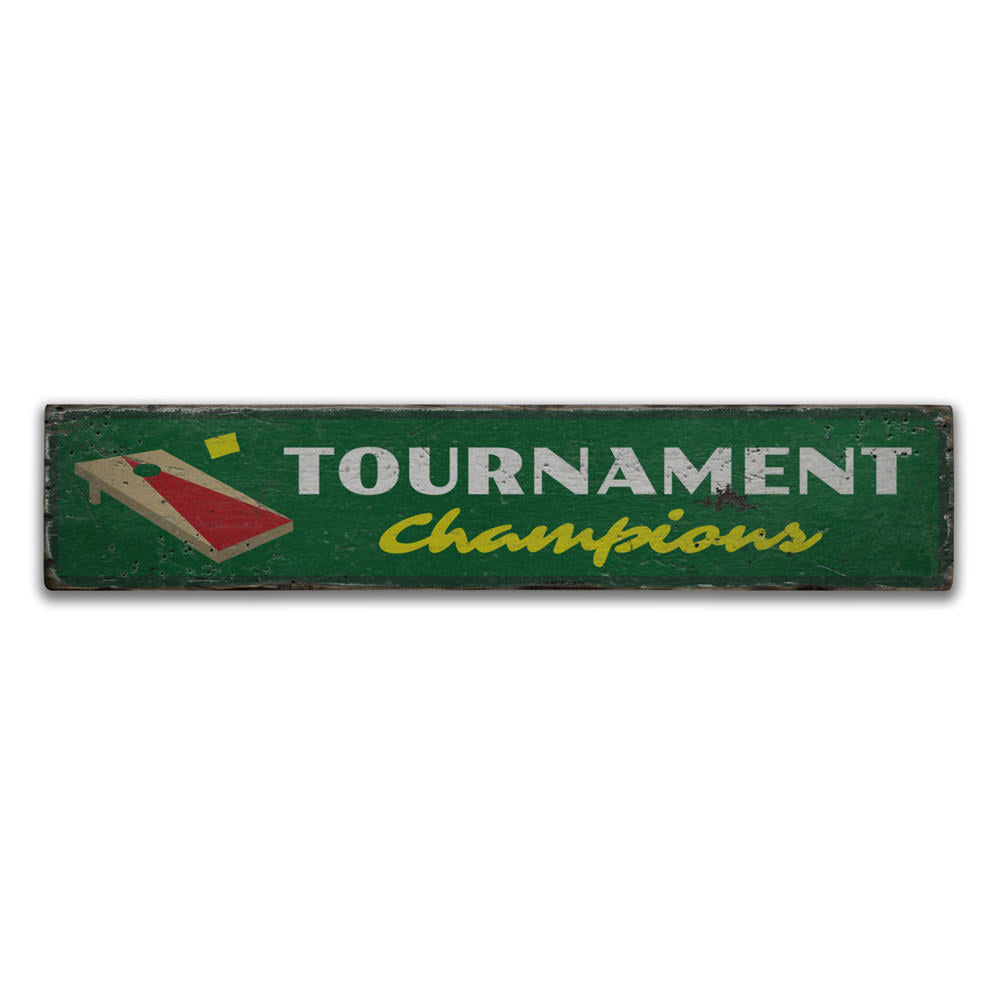 Tournament Champions Vintage Wood Sign