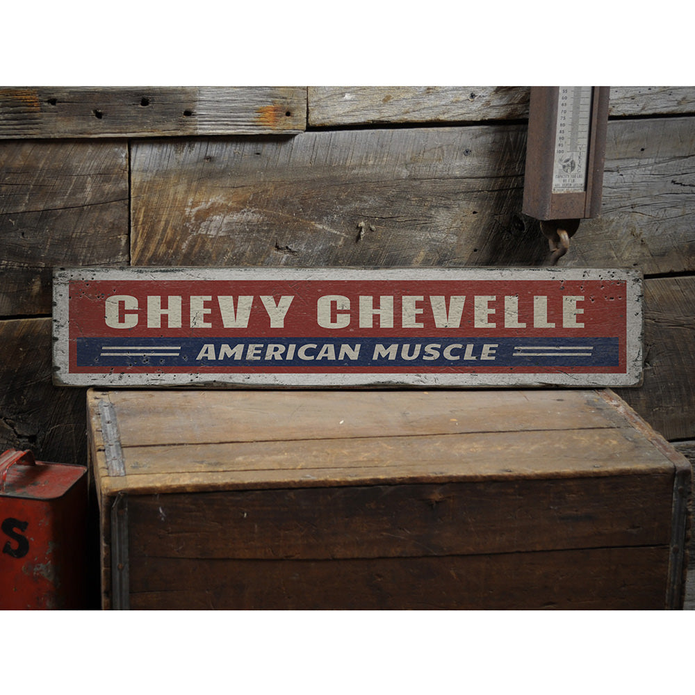 Chevelle Vintage Wood Sign