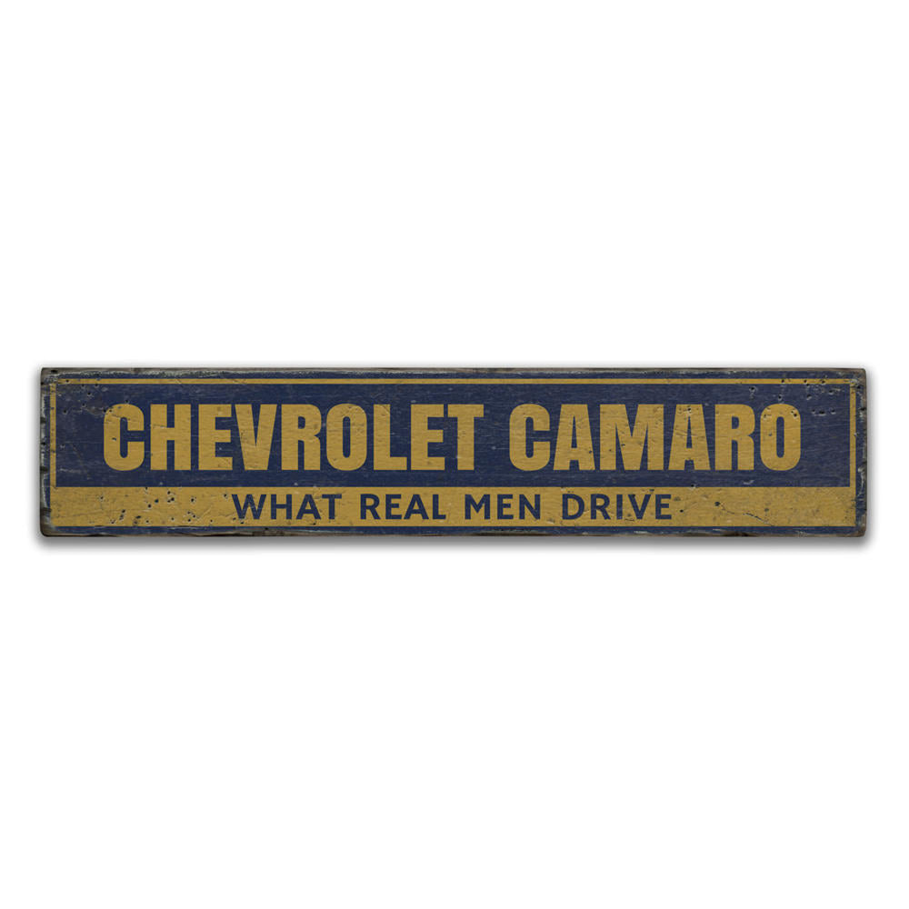 Chevrolet Camaro Vintage Wood Sign