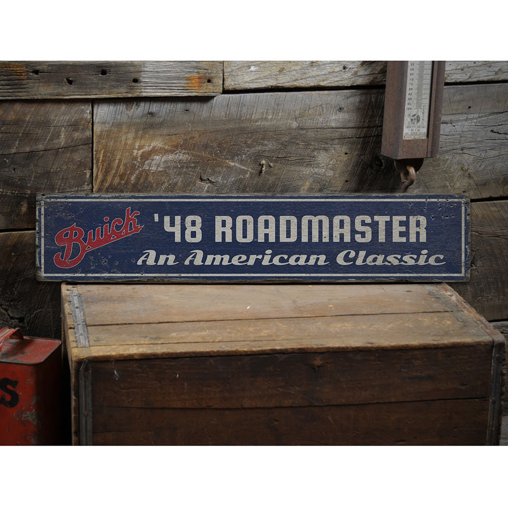 American Classic Roadmaster Vintage Wood Sign