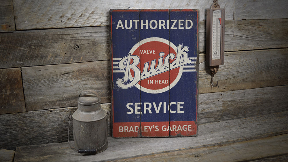 Buick Service Vintage Wood Sign