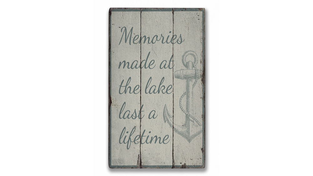 Memories Made at the Lake Rustic Wood Sign