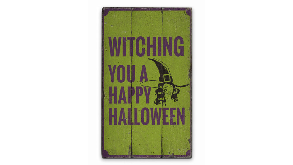 Witch Rustic Wood Sign