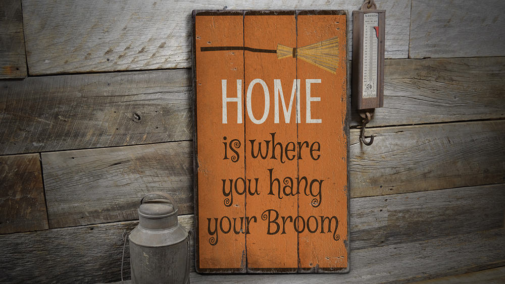 Witch Phrase Rustic Wood Sign
