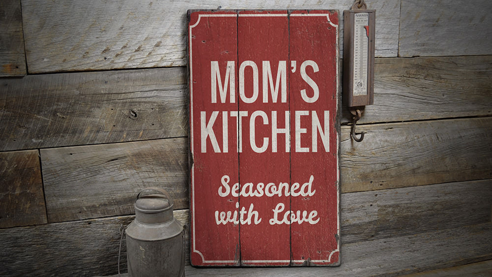 Moms Home Kitchen Rustic Wood Sign