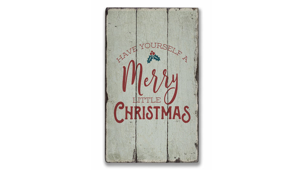Christmas Song Rustic Wood Sign
