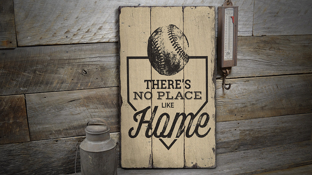 No Place Like Home Rustic Wood Sign