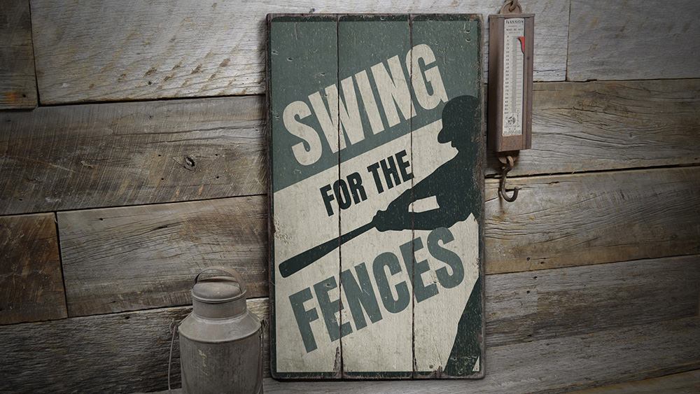 Batter Rustic Wood Sign