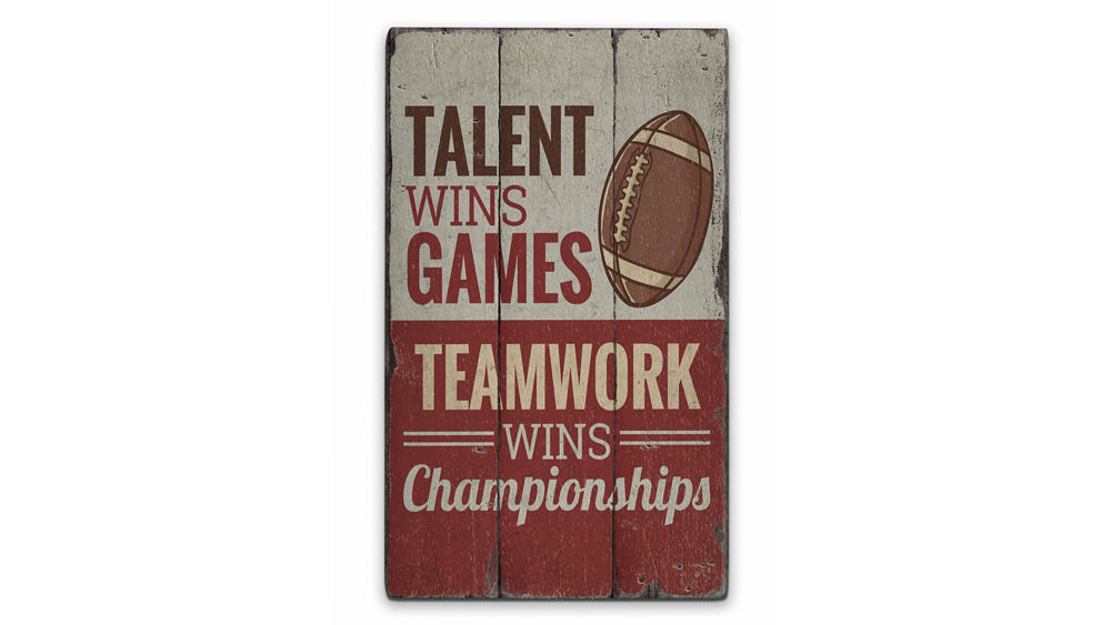 Sports Quote Rustic Wood Sign