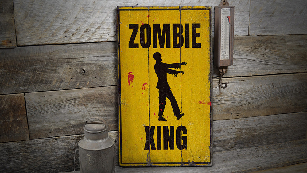 Zombie Crossing Rustic Wood Sign