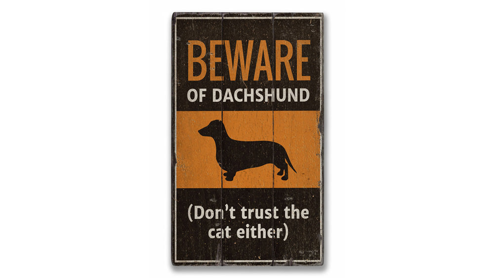 Dachshund Rustic Wood Sign