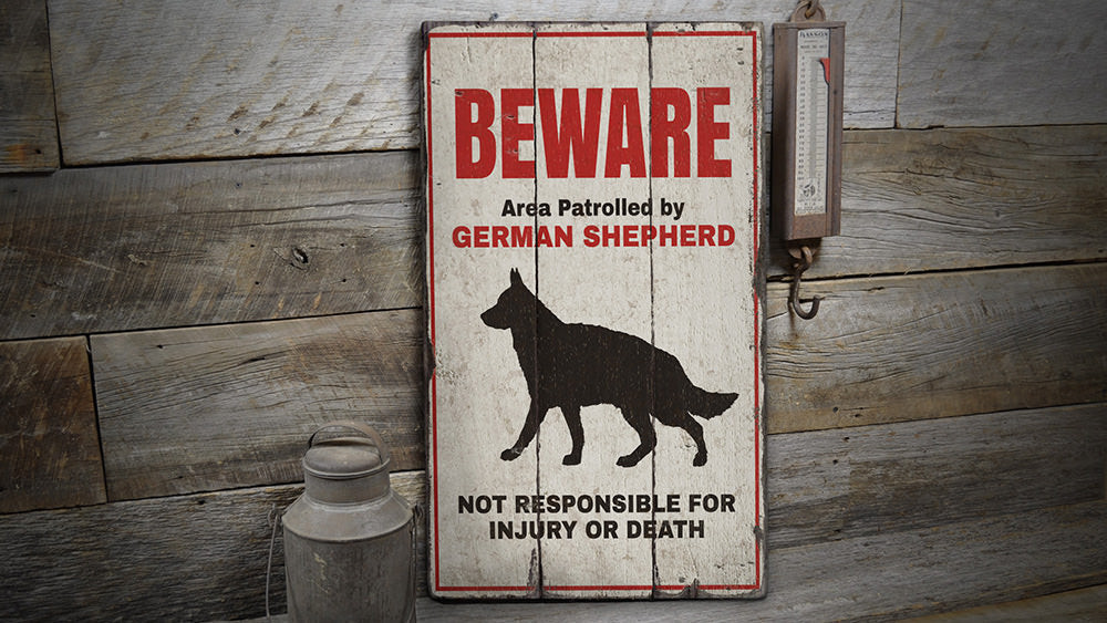 German Shepherd Rustic Wood Sign