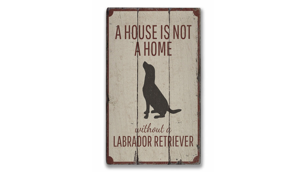 Lab Dog Rustic Wood Sign