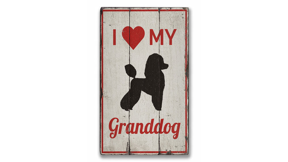 Granddog Rustic Wood Sign