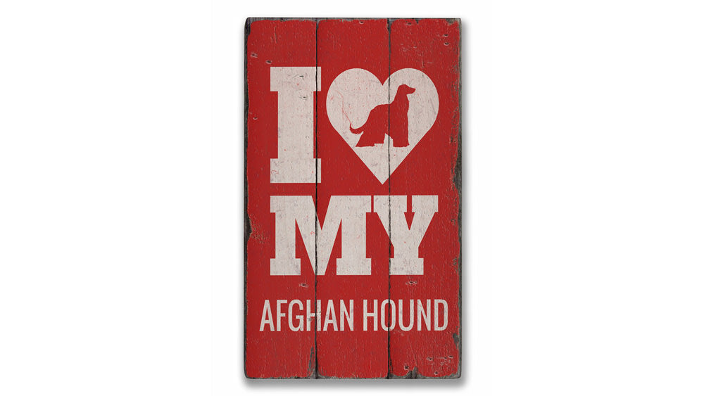 Afghan Hound Vintage Wood Sign