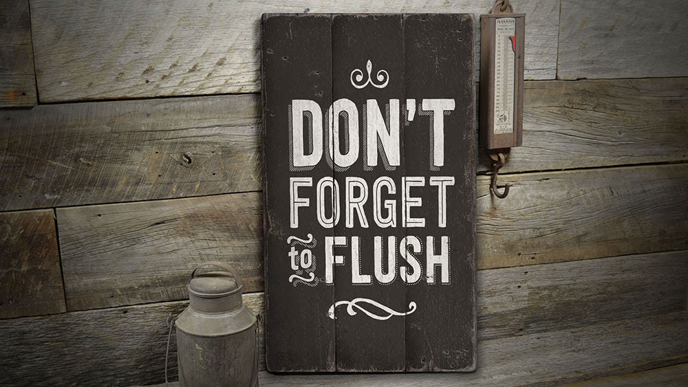 Flush Rustic Wood Sign