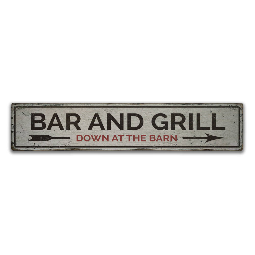 Bar and Grill Vintage Wood Sign
