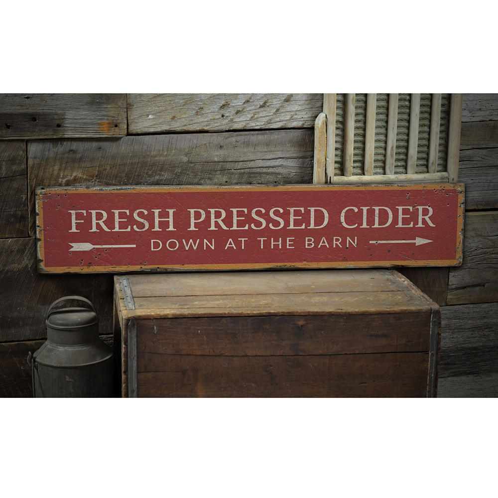Cider Vintage Wood Sign