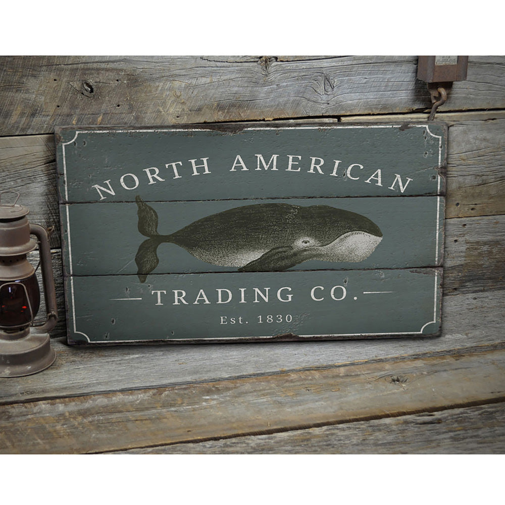 North American Trading Company Rustic Wood Sign