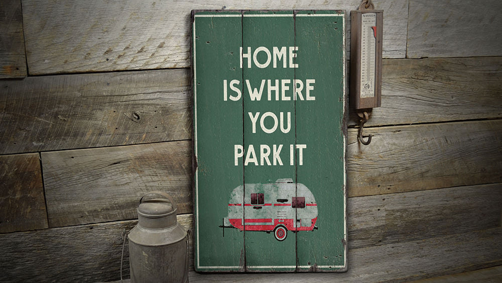 Camper Rustic Wood Sign