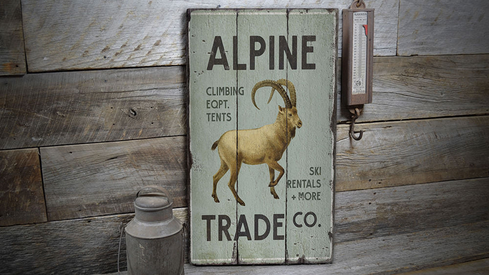 Alpine Trade Company Vintage Wood Sign