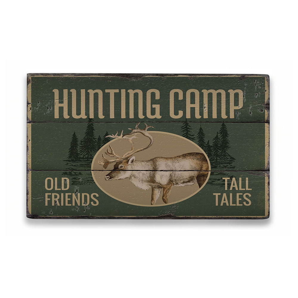 Hunting Camp Rustic Wood Sign