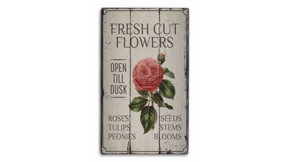 Rose Rustic Wood Sign