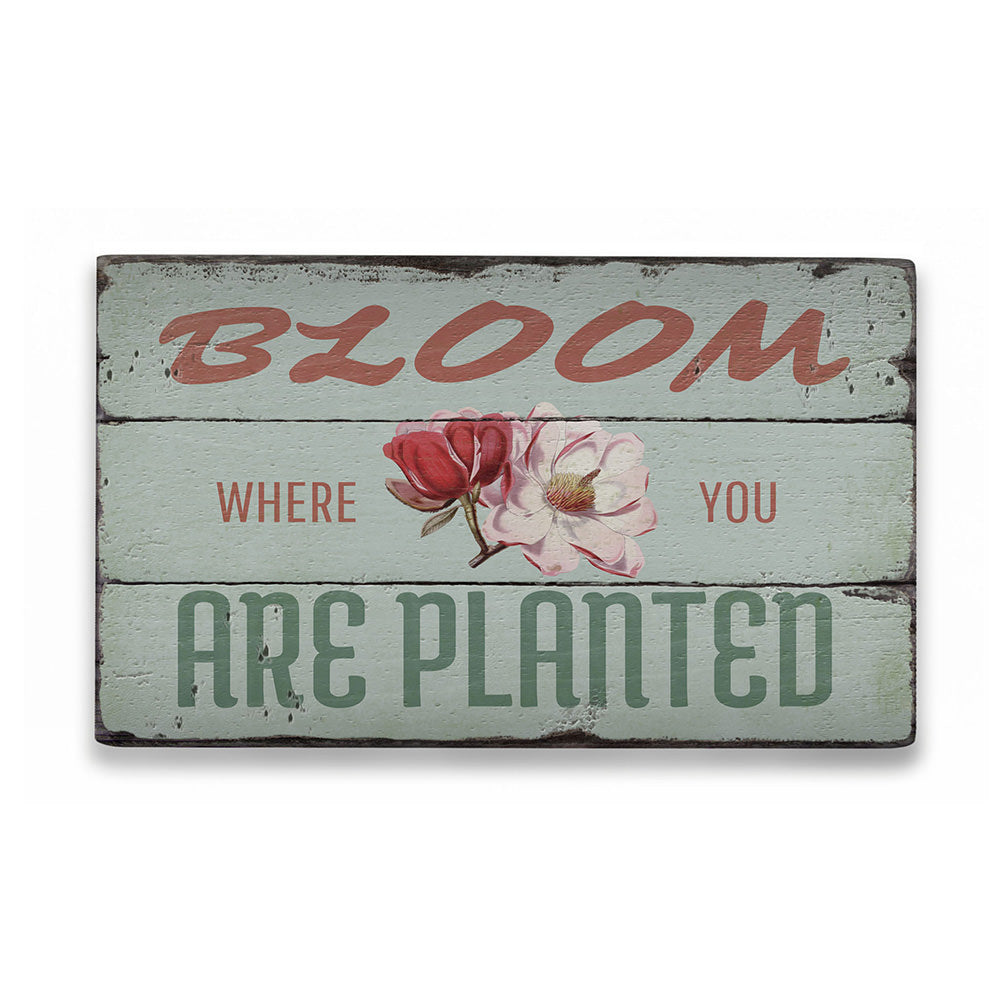 Garden Saying Rustic Wood Sign