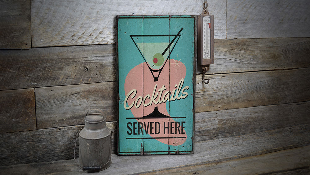 Margarita Lounge Rustic Wood Sign