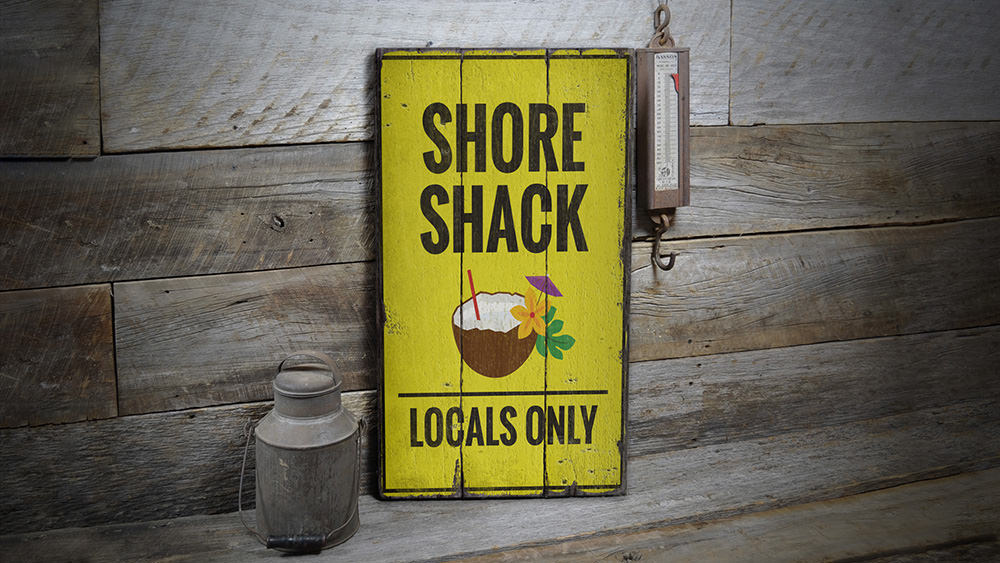 Shore Shack Vintage Wood Sign