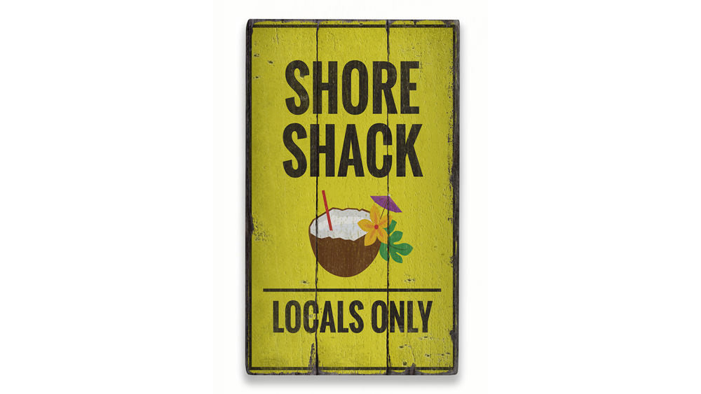 Shore Shack Rustic Wood Sign