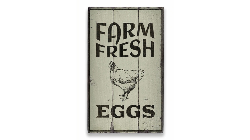 Egg Farm Rustic Wood Sign
