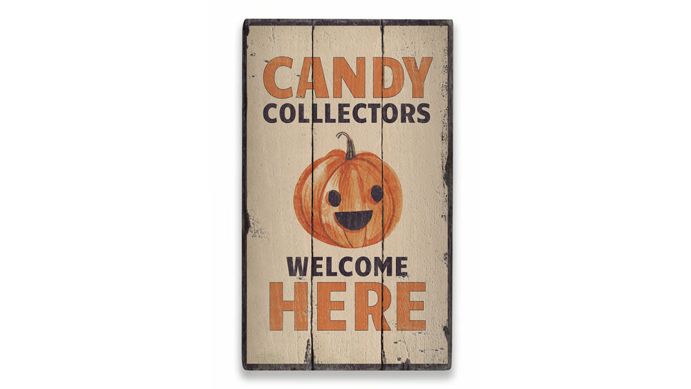 Candy Collectors Rustic Wood Sign