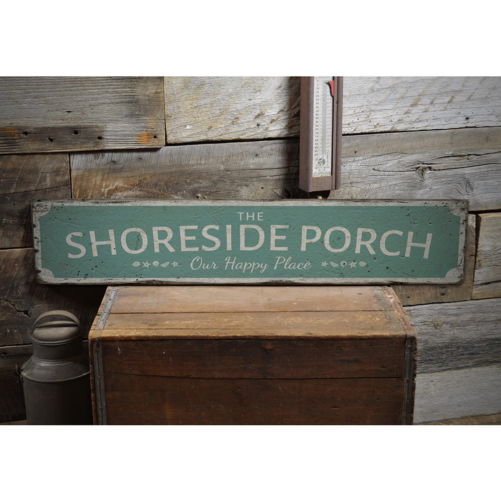 The Shoreside Porch Vintage Wood Sign